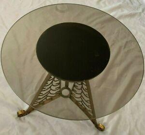 "Metal Glass 16X17"" Round Table - 2 Piece"