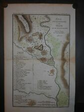 Sparta Ancient Greece 1790 Map Hand Colored Hippodrome Temples Eurotas River