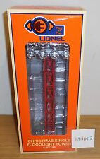 LIONEL #82746 RED FLOODLIGHT TOWER TRAIN ACCESSORY O GAUGE PLUG-N-PLAY CHRISTMAS