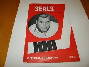 1965-66 San Francisco Seals Western Hockey League Program John Gravel Cover VF