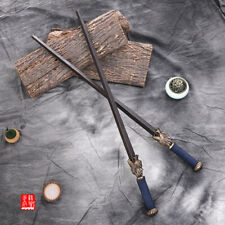 Chinese traditional weapons: forged double whip mace made of dragon grain steel.