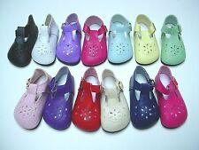 "Doll Shoes, 69mm T-Straps for SD* BJDs, Magic Attic, 18"" Ann Estelle - LT GREEN"