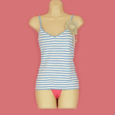 V Neck Stretch Singlepack Striped Tops & Shirts for Women