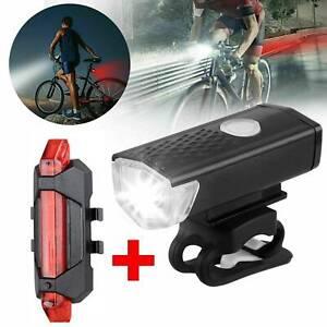 LED Fahrradbeleuchtung Set Fahrradlicht USB Fahrad -Scheinwerfer Rücklicht Lampe