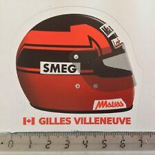 Sticker / Aufkleber, Formel 1 Helm, Design Gilles Villeneuve