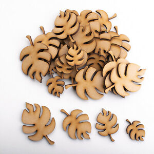 Wooden MDF Shapes Crafts Tropical Leaf Scrapbook Embellishments Decoration