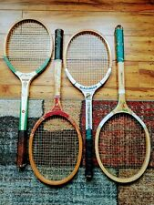 New listing 4 Vintage Wooden Tennis Racquets Lot in Fair Shape