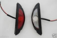 2x LED SIDE OUTLINE MARKER RED/WHITE LIGHTS E-MARKED TRAILER LORRY TRUCK CAMPER
