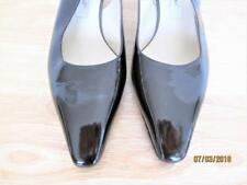 NEW MARC JACOBS WOMEN'S BLACK PATENT LEATHER SLINGBACK HEEL SHOES SIZE 39 ITALY