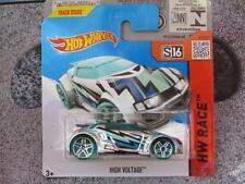 Hot Wheels 2015 # 156/250 alto voltaje Cromo Verde HW CARRERA Funda K