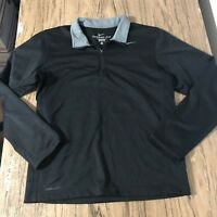 Nike Therma Fit Black Half Zip Sweater Size M #9515