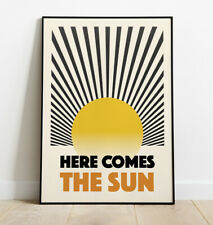 More details for here comes the sun art print, beatles poster, wall art, home decor