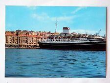 TRIESTE Nave ship COLOMBO lloyd Hotel Excelsior vecchia cartolina *