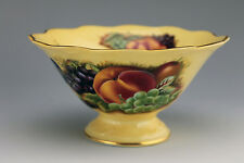 """Aynsley Bone China ORCHARD Fruit 5"""" Wide Footed Bowl"""