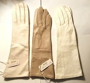 VINTAGE NEW ARIS PAIRS NEIMAN MARCUS LADY'S KIDSKIN LEATHER GLOVES W/SILK LINED