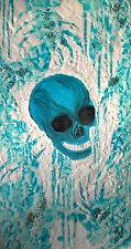 """Acrylbild  Acrylmalerei Totenkopf Skull Bild  Gemälde""""Mr. Frost"""""""