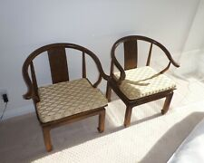 Pair of Chairs James Mont Chinese Style Armchairs