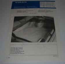 Einbauanleitung Volvo 440 Schmutzabweiser Kofferraum Protection Cover Boot 1988!