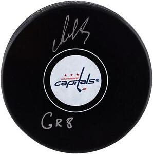 Alex Ovechkin Capitals Signed Hockey Puck with The Great Eight Insc - Fanatics