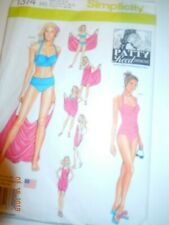 Simplicity misses  2 piece swimsuits and cover up 6-14  wrap and tie many ways.