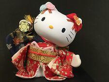 New Hello Kitty Japanese Doll Small Tsuzumi Hand Drum Kimono from JAPAN