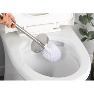 Bathroom Toilet Brush and Holder Stainless Steel Toilet Bowl Cleaner Brush