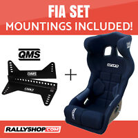 Mirco RS1 FIA Racing Seat BLACK VELOUR Set with Bracket Mountings Included!