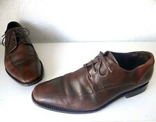 Floris Van Bommel Brown Genuine Leather Mens Lace-Up Brogue Shoes UK Size 9 EU42