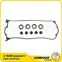 NEW VC420 Engine Valve Cover Gasket Set for Acura Integra GS-R B17A1 B18C1 w//Spark Plug Seals and Grommets TYPE-R B18C5 Honda Civic Del Sol VTEC B16A2 B16A3