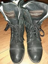Russell bromley Women's Black Leather Ankle Boots UK Size 5 EU 38