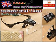 Head Magnifier With Led Light and 5 Lenses 1.5x-3.5x Magnification
