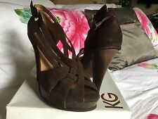 Kurt Geiger Stunning Suede  Leather Heels Shoes SandaLs 40 / UK 7 RRP £120