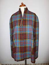 Señoras Vintage tartan/tweed Pura Lana capa Abrigo Talle Uk 12 británicos hicieron