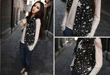 Fashion Chiffon Neck Scarf Black With White Star Pattern Accessorise Your Look