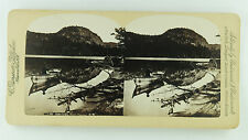 Underwood & Underwood Stereoview of Echo Lake, North Conway, New Hampshire NH