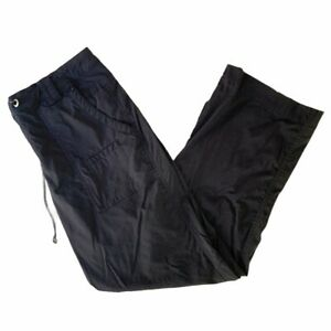 LUCY ACTIVEWEAR Black Lightweight Cargo Style Drawstring Athletic Pants S Short