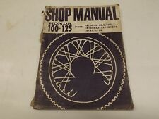 Honda 100/125 shop manual