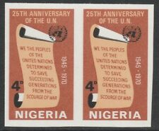 Nigeria 3890 - 1970  UNITED NATIONS 4d  IMPERF PAIR unmounted mint