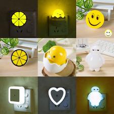 Plug-in LED Night Light Sensor Automatic Brightness Energy Saving Light Lamp Kid