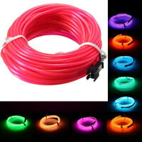 10M Flexible Neon LED Lights Glow EL Wire String Strip Rope Tube Car Decor 2