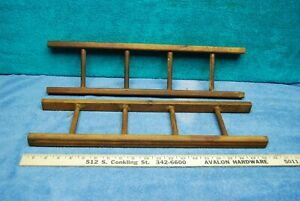 1950's Vintage Murray Fire Engine Pedal Car Truck Wooden Side Ladders 2pc Pair!
