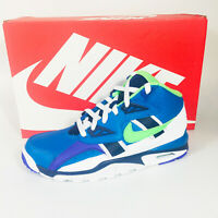 Nike Air Trainer GS Shoes Boy's Imperial Blue / Scream Green CJ0580-400 NEW