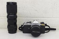 Vintage Pentax ME 35mm SLR Camera +Pentax-M 1:1.7 50mm & Albinar 85-210mm Lenses