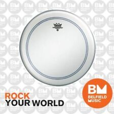 Remo P3-1122-C2 Drum Head Powerstroke 3 22'' inch Coated Skin White FALAM Patch