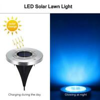 Outdoor Garden 8 LED Solar Disk Light Buried Light Under Ground  Lamp Waterproof