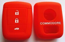 RED SILICONE KEY COVER SUITS HOLDEN REMOTE MALOO SS V8 SV6 VE COMMODORE