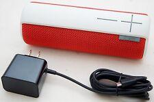 NEW Logitech UE BOOM Red/White Bluetooth Speaker ultimate ears IPX4 880-000369