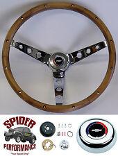 "1969-1974 Chevelle Chevy 2 EL Camino steering wheel CLASSIC BOWTIE 15"" WALNUT"