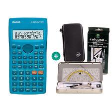 Casio FX 82 SX Plus Taschenrechner + Schutztasche und GeometrieSet