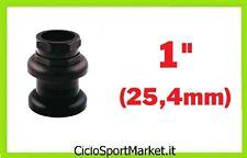 """Serie Sterzo a filetto Standard 1"""" (25,4mm) Bici Pieghevole - Graziella - NERO"""